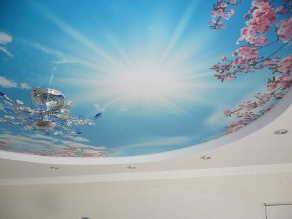 Потолок небо в комнату