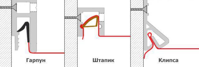 Выбор натяжных потолков