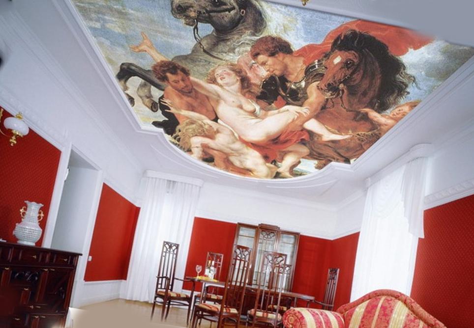 3d картина на потолке