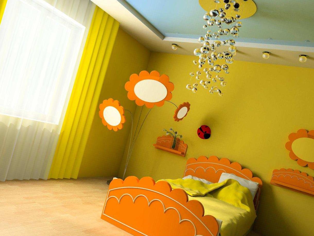Дизайн натяжных потолков в детской