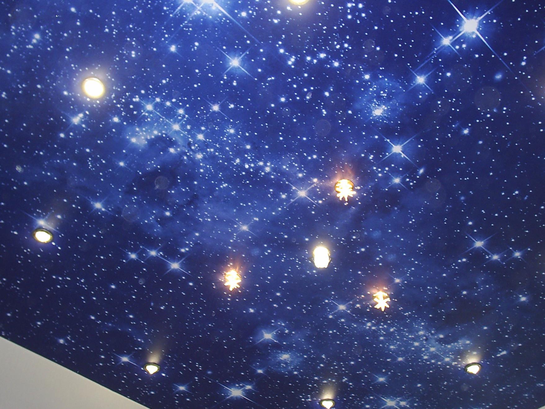 Натяжной потолок со звездами