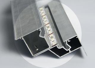 багет для двухуровневых натяжных потолков с межуровневой подсветкой