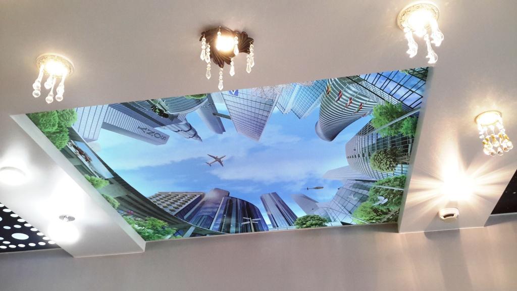 Красивый 3Д потолок