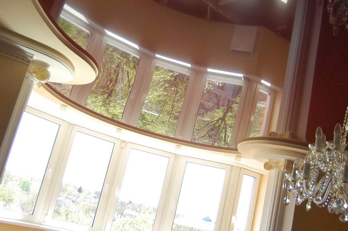 Натяжной потолок «шоколад»