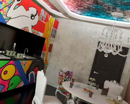 Натяжные потолки в поп-арт стиле